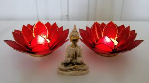 Red lotus - Budda - Mariao